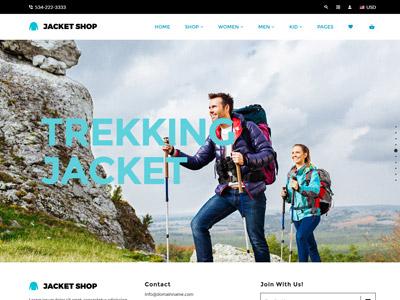 Jacket Shop | Fashion Shop Shopify theme web design website ecommerce responsive theme shopify jewellery kids clothes