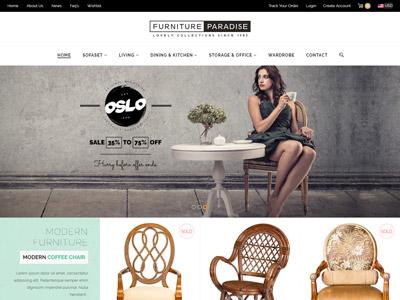 Furniture Paradise - Powerful Responsive Shopify Theme website design website shop responsive ecommerce theme handicrafts interior shopify furniture