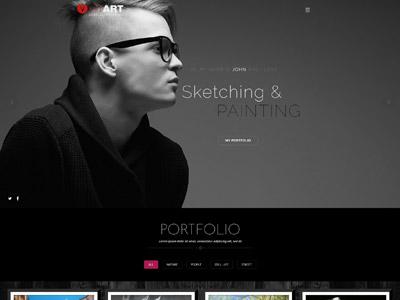 Red Art Photography | Art, Photography Theme website web design portfolio designer personal theme wordpress creative photography art