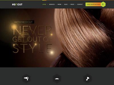NEO CUT - Hair Style Salon HTML5 Template web design website website design retail template html tattoo salon. beauty