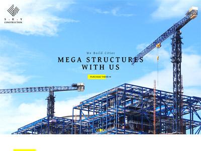 Construction - Architect & Builders WordPress Theme website design website electrician responsive theme wordpress plumber builder architect construction