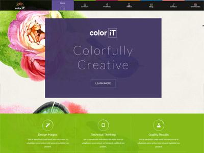 Color IT - Colorful Multipurpose Theme website design website web design creative theme wordpress multipurpose