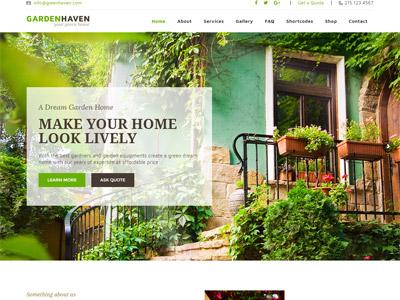 Gardening - Lawn, Garden Landscaping Theme website design website web design responsive ecommerce theme wordpress landscaping shop flower garden