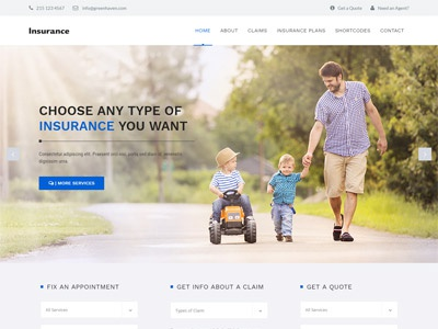 Insurance - Consulting WordPress Theme web design website design web responsive theme wordpress agency auditing consulting insurance