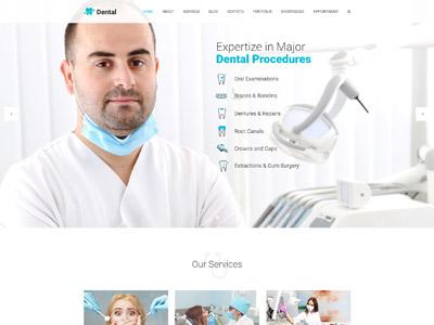 Dental Health - Dentist Clinic Medical WP theme web design website design web responsive theme wordpress medical health cosmetic dental