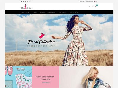 Classy Missy - A Fashion Store Shopify Theme website design web design web responsive ecommerce theme shopify fashion