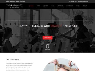 Trend Salon - Haircut, Hair Salon & Hairdresser Theme web design web website design responsive theme wordpress beauty health barber spa salon