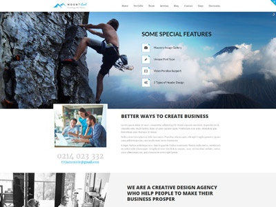 Mount Cool Demos web design website design web responsive theme wordpress agency portfolio event multipurpose one page