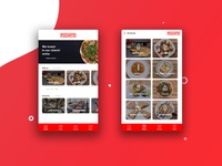 Pizzeria App Homepage & Menu