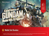 Gundam Infographic Landing Page (Close up)