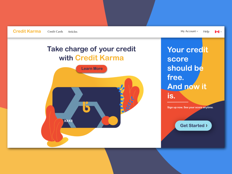 Credit Karma Redesign by Jyotsna Arora on Dribbble