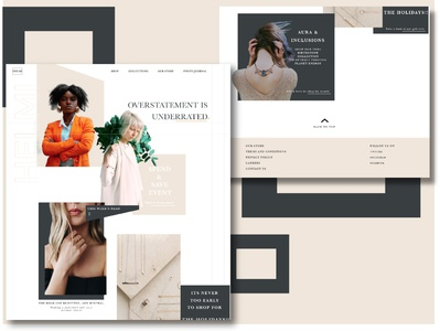 Website design for jewellery/fashion brand