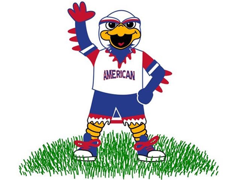 american university mascot illustration for children s book by