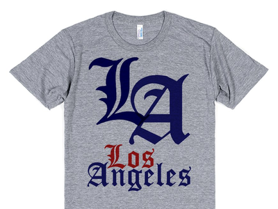 Los Angeles Dodgers Olde English Logo and Wordmark T-Shirt