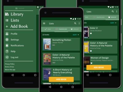Bookshelf Lists Android