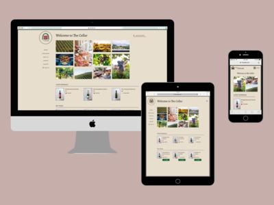 The Cellar Responsive Website