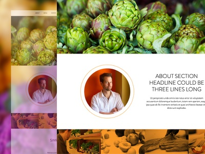 Restaurant Landing Page (WIP) landing page one page beautiful photography imagery in progress undisclosed