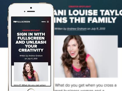 Responsive Fullscreen Blog  blog fullscreen creators responsive