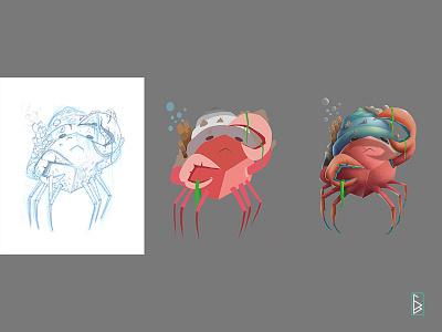 Work flow creature magic cartoon conceptart videogames illustration