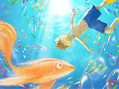 Vuela procreate drawing love art painting digital magic illustration