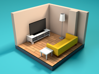 First Low Poly Room