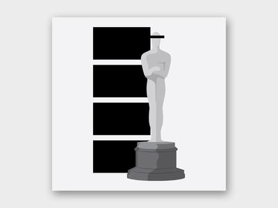 Best Picture Pick: Parasite (Black and White) oscars bong joon ho movie film parasite design graphic design illustration