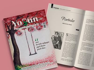 Yosun Dergi Tasarımı book typography kapak editorial cover idenity grafik tasarım design branding brand