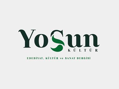 Yosun Dergisi Logo Tasarımı editorial vector logo typography grafik tasarım design logo tasarım logo design logotype logos