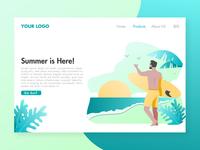 Summer Surfing Landing Page