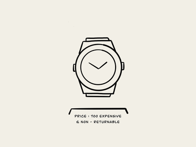 Time is precious, use it wisely. money expensive time watch graphic design branding logo illustration sketch draw lineart design minimal illustration art