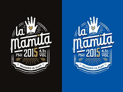 La Mamita Beer identity logo lettering packaging 2015 beer france nantes beubar labeubar manita lamamita