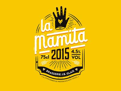 La Mamita Beer yellow logo lettering packaging 2015 beer france nantes beubar labeubar manita lamamita
