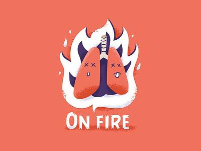 La Beubar - On Fire beard france nantes illustration breathe lung fire onfire beubar labeubar
