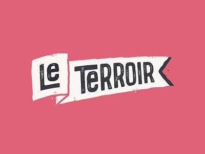 Le Terroir barbe beubar labeubar languedoc nantes identity brand typography flag title vin wine