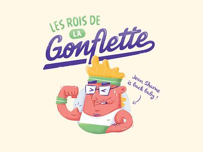 Les Rois de la Gonflette bodybuilding fitness design character shame jean nabu illustration 2015 nantes