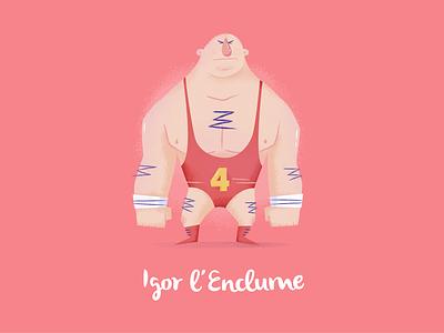 Igor l'Enclume cccp urss russian bodybuilding fitness design character illustration 2015 nantes