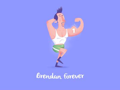 Brendan Forever nantes 2015 illustration character design fitness bodybuilding