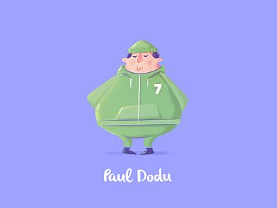 Paul Dodu bodybuilding fitness character design 2015 illustration nantes