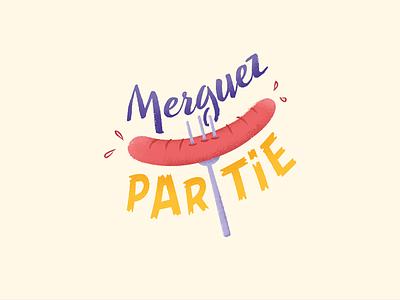 Merguez Partie sausage food party partie merguez illustration 2015 nantes