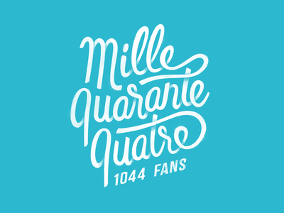 Edito labeubar nantes facebook fans thanks typography handlettering lettering