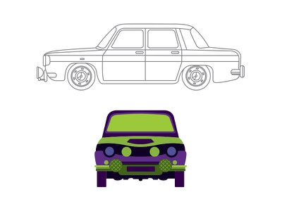 dacia 1100 illustration cars