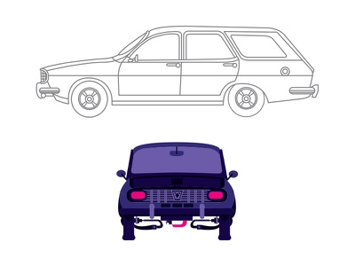 dacia break illustration cars