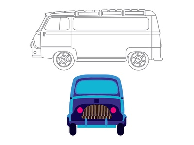 dacia estafette illustration cars