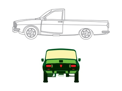 dacia pick-up illustration cars