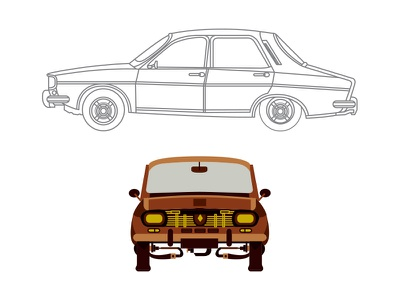 dacia 1310 illustration cars