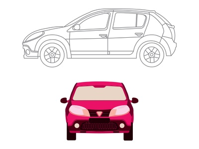 dacia sandero stepway illustration cars
