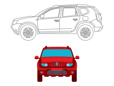 dacia duster illustration cars