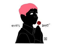 Boys and roses