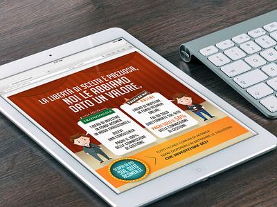 Online campaign for Acomea newsletter design edm