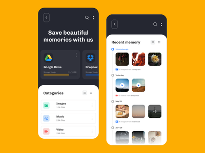 Advance File Management Concept - Sketch minimalist modern clean storage file manager concept ux ui mobile android